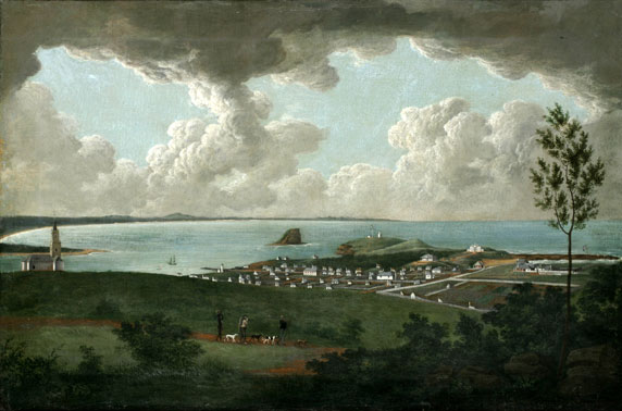 Joseph Lycett :  Inner view of Newcastle (circa 1818)