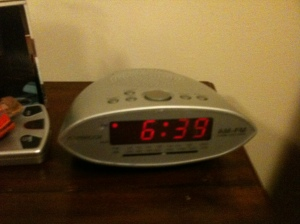 This is my alarm clock and it is on my wife's side of the bed.